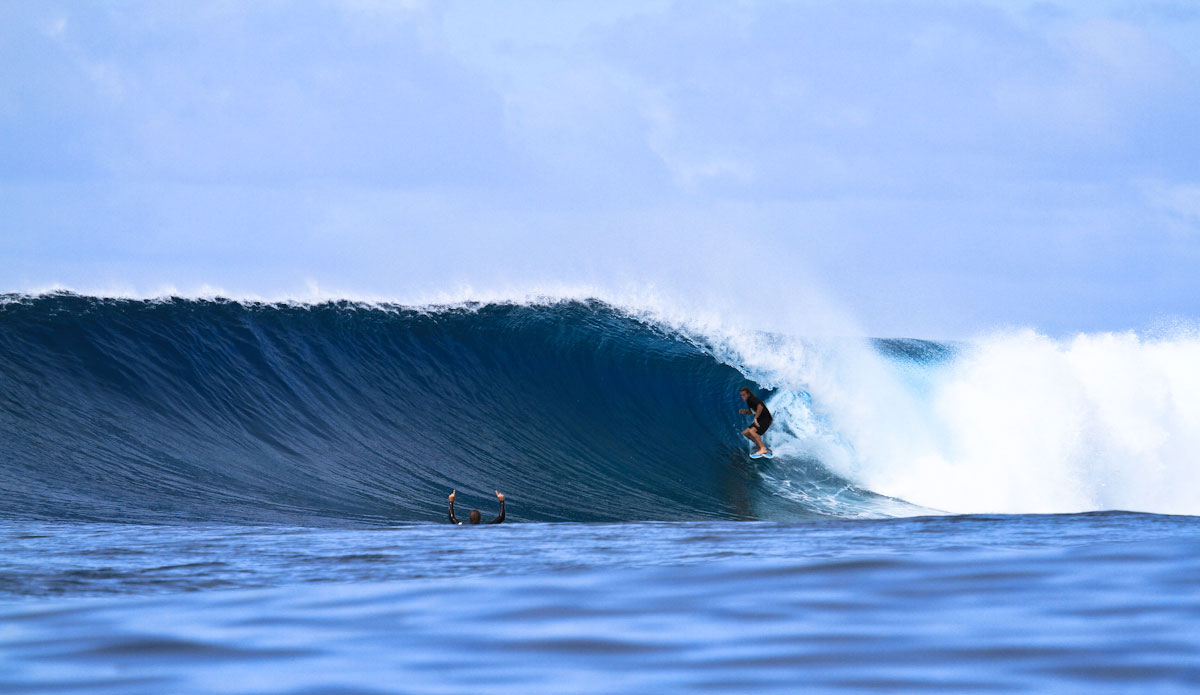 The only thing better than seeing a friend get a wave like this is getting your own. Photo: Brian Blank