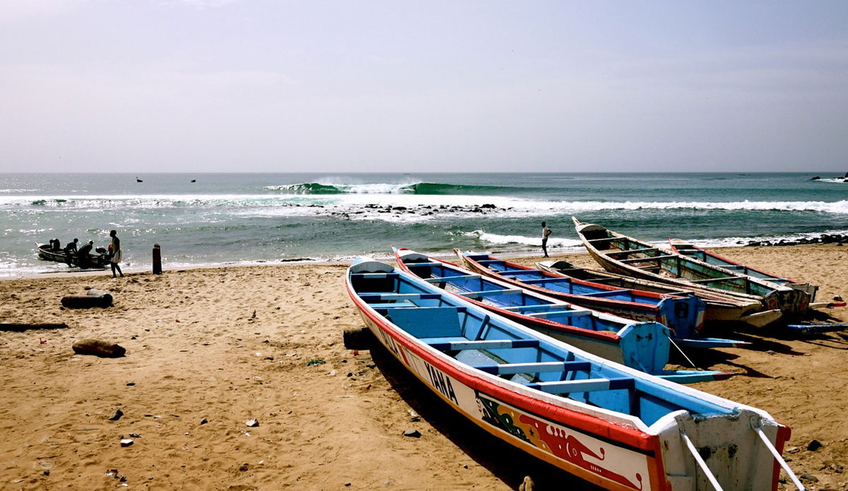 "No boatman needed in Senegal. Photo: <a href=\""http://bugsonmyboard.org/\"">Gary Conley</a>"