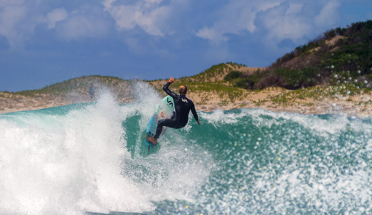 "Shaping and testing his new models on all the different waves around here. Simon Fish.  Photo: <a href=""https://www.facebook.com/pages/Pho-Tye-Studio/398591356893177?fref=nf\""> Tyerell Jordaan</a>"