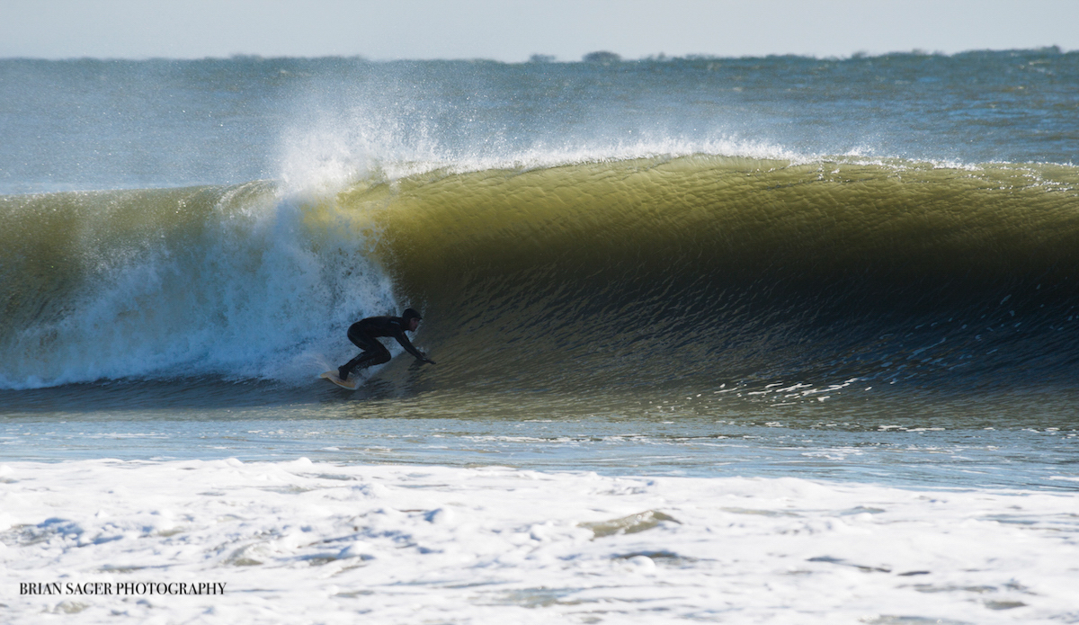 """Sean Fitzgibbon, pulling into a cold one. Photo: <a href=\""""http://www.briansagerphotography.com\"""">Brian Sager</a>"""