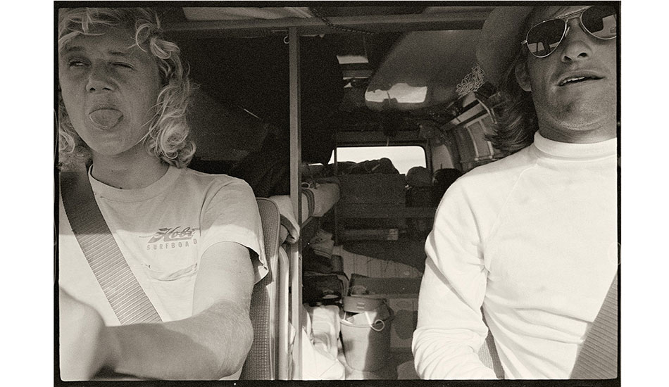 Me and Nigel – 1971 I ran this picture very small in a Tracks story in March 1972, but it charms me now. Nigel Coates and I were driving across the country to Margaret River in my Kombi van. Photo: Witzig