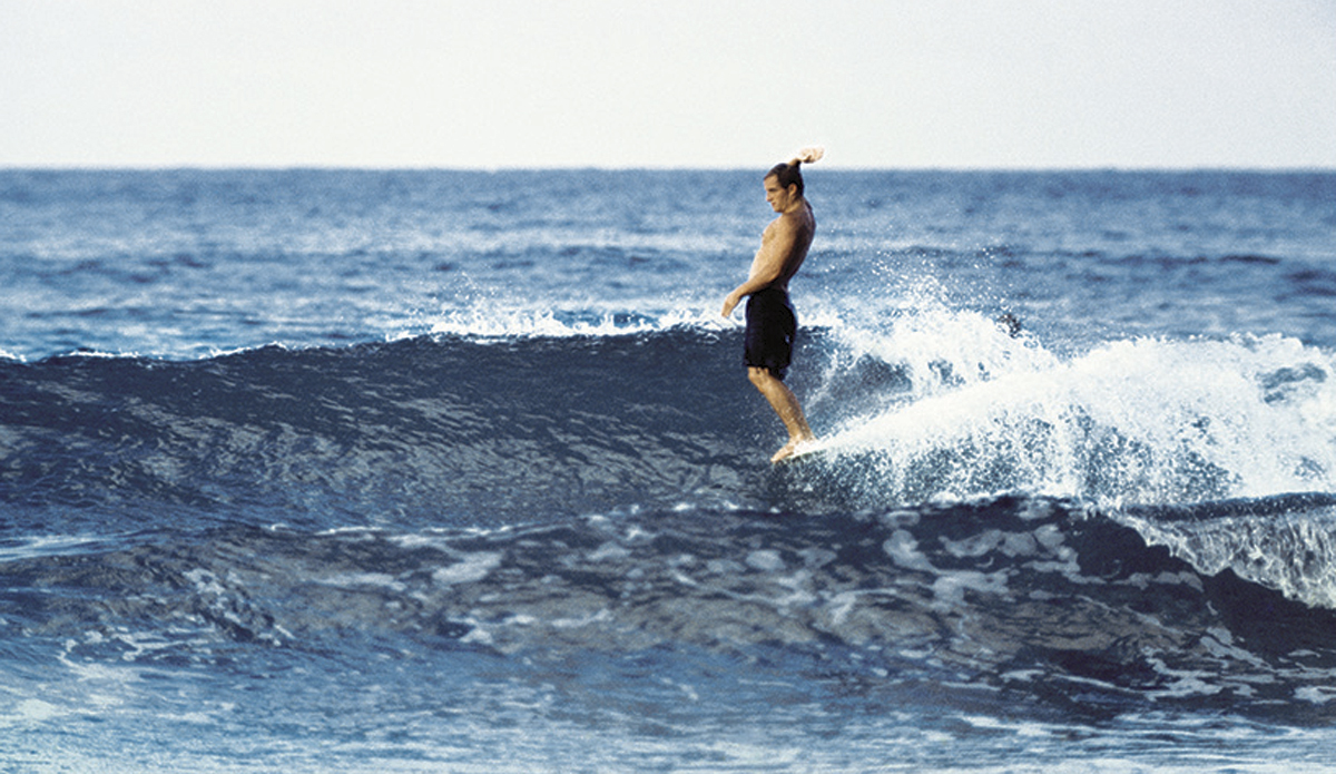 """Bob McTavish, Noosa nose ride c. 1966 Just before the start of what would become the shortboard revolution, McTavish with his take on the nose ride – so cool, so stylish, so 1960s.  Photo: <a href=\""""http://www.johnwitzig.com.au/\"""">John Witzig</a>"""