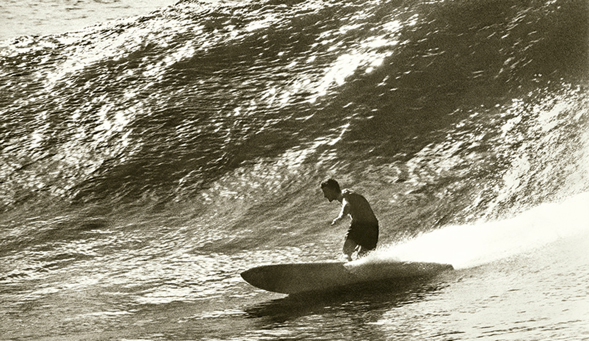 """Nat, bottom turn, Honolua 1967 I got lucky and was the only stills photographer at Honolua Bay in December 1967 when the Australians (and an expatriate American mat-rider named George Greenough) announced to the world that things were happening Down Under.  Photo: <a href=\""""http://www.johnwitzig.com.au/\"""">John Witzig</a>"""