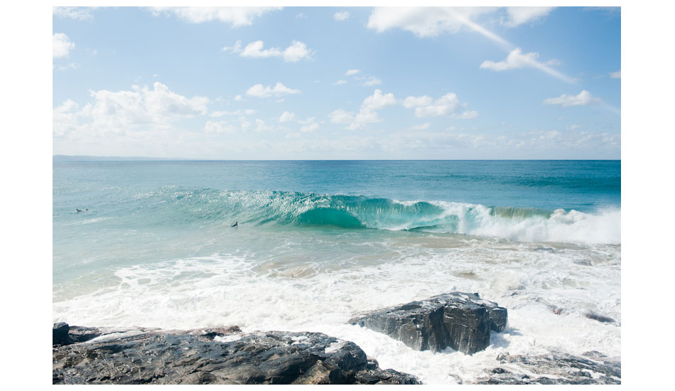 Harry Bryant, admiring the fume from the ocean. Photo: Woody Gooch