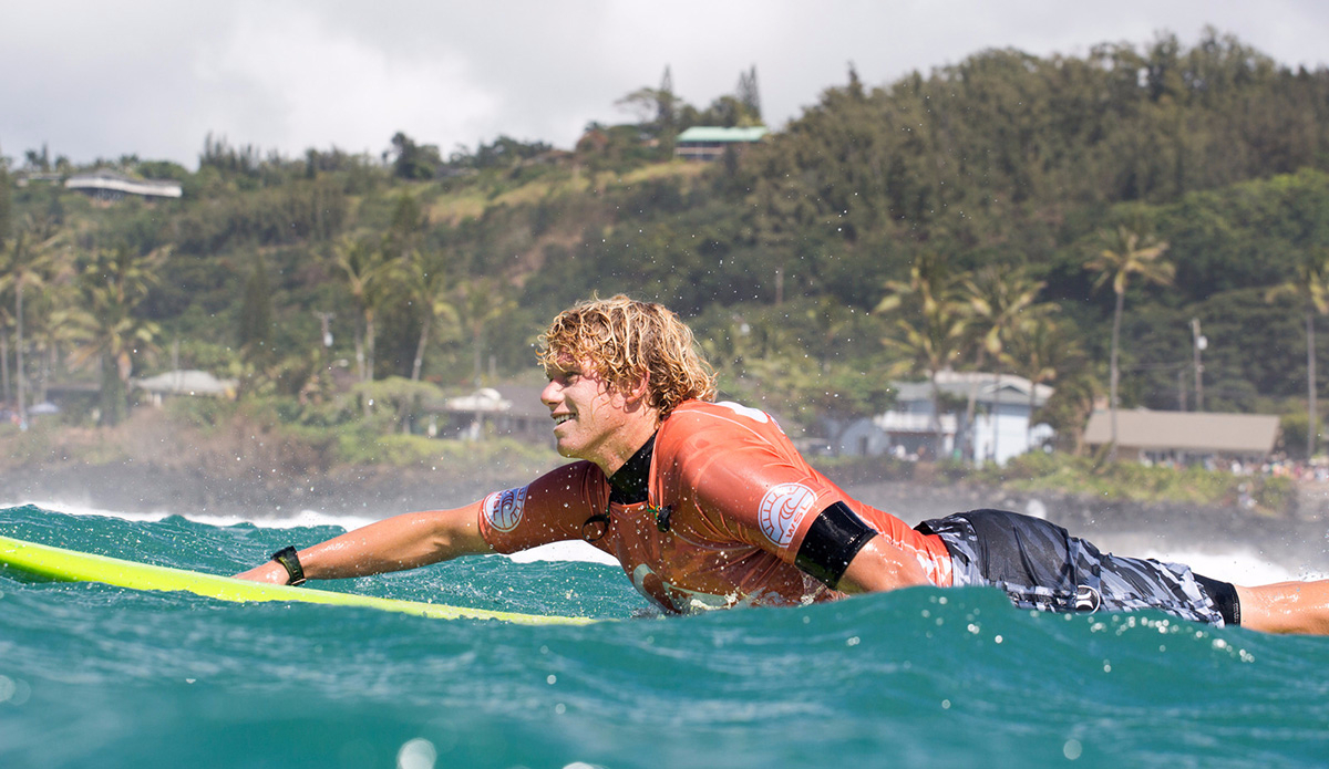 4a5425a889 John John Florence of Hawaii (pictured red) winner of the Quiksilver in  Memory of