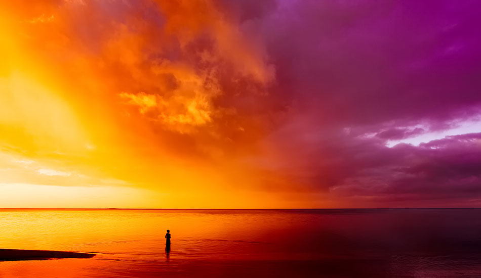 """This image was shot on an editorial trip to Northern Fiji.  The waves never showed up, but the sunsets seemed to make up for it every evening. <b>Photo:</b> <a href=\""""http://www.anthonyghiglia.com/\"""" target=_blank>AnthonyGhiglia.com</a>/<a href=\""""http://www.anthonyghigliaprints.com/\"""" target=_blank>AnthonyGhigliaPrints.com</a>"""