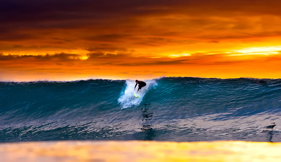 """Acid drop at Blacks. This is an image of an old friend, Patrick Reilly, dropping into a Blacks set on one of the craziest evenings I\'ve ever witnessed in the water...anywhere. <b>Photo:</b> <a href=\""""http://www.anthonyghiglia.com/\"""" target=_blank>AnthonyGhiglia.com</a>/<a href=\""""http://www.anthonyghigliaprints.com/\"""" target=_blank>AnthonyGhigliaPrints.com</a>"""
