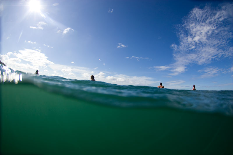 Clean ocean water to surf in and enjoy in Nicaragua.