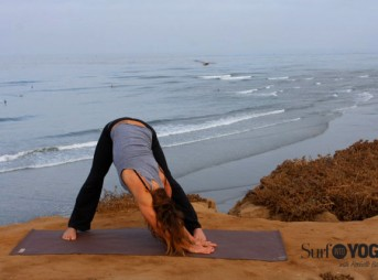 Rochelle Ballard provides yoga and health tips for surfers. Photo: Lindsay Noyse