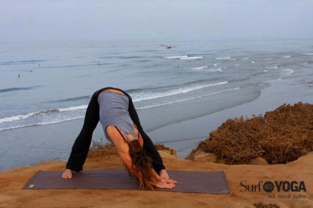 Rochelle Ballard provides yoga and health tips for surfers. Photo: Lindsay Noyse