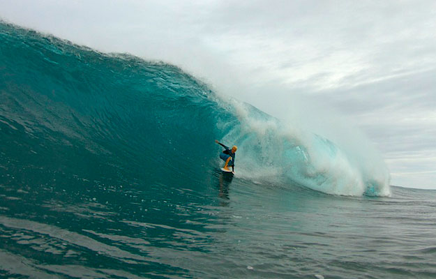 Keala Kennelly Backdoor Pipeline Barrel