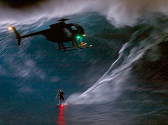 Mark Visser Night Surf Jaws Peahi Maui Big Wave