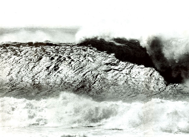 Falzon says this wave occured after Noll caught his and was washed in at Makaha. According to Noll's  versions of events he was out there alone for 30 minutes or an hour waiting for that famous wave. Photo: Alby Falzon