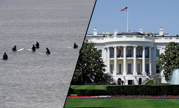 Surfers and White House