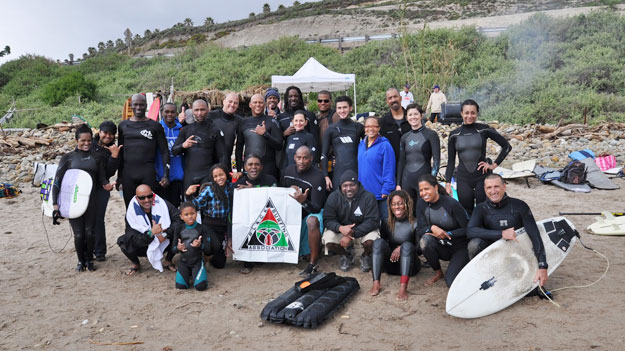 """""""It was for fraternity,"""" says Black Surfing Association Founder Tony Corley. """"That's kind of why I started the Black Surfing Association."""" The BSA at the 2011 Rincon Invitational this March. Photo: Ken Samuels/BlackSurfingAssociation.blogspot.com"""