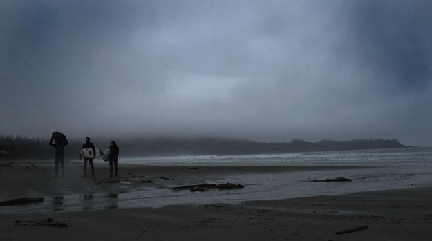 Canadian Surfers Dark Beach