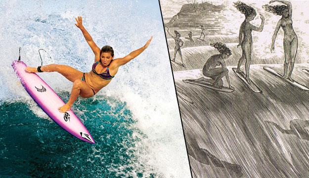 Coco Ho Ancient Hawaiian Surf Girls Maids on Waves