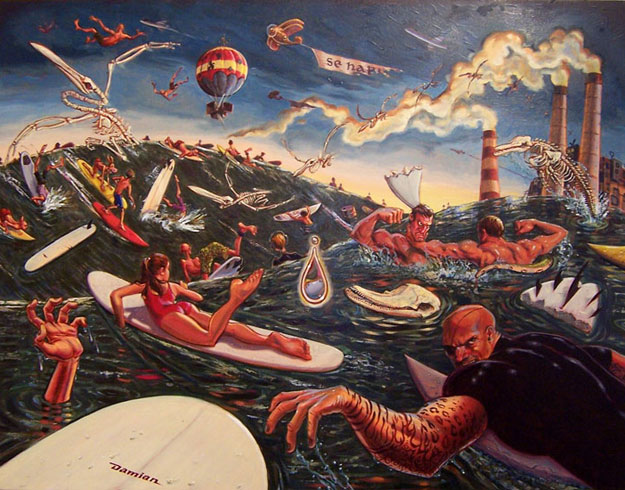 Damian fulton surf art