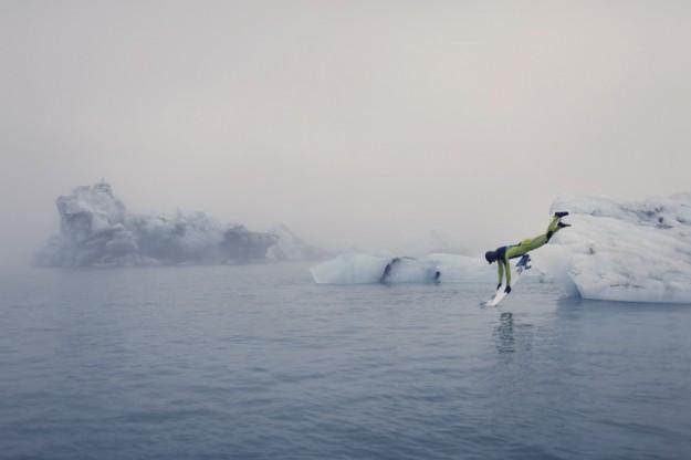Iceland frigid surf