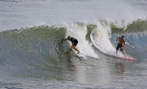dropping in burned surfing