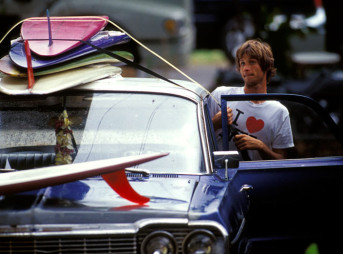 Joel Tudor Surfboard and Cars