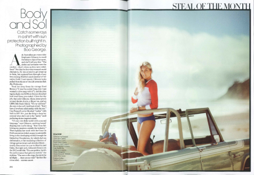 Steph Gilmore poses in Vogue Magazine.