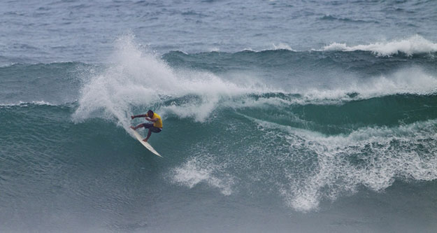 On Saturday, Sunny Garcia won the ASP 4 Star 2012 Hawaiian Island Creations Pro at Sunset Beach on the North Shore of Oahu in powerful eight to 10 foot surf.