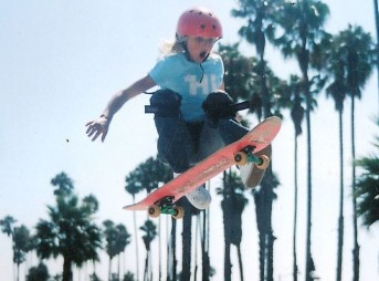 Lakey Peterson skateboarding.
