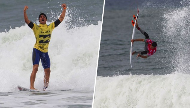 """The issue is not that Brazilians claim or do not claim, it's that, instead of being an individual reaction, it is strongly implied that this is """"Brazilian behavior."""" Gabriel Medina and Adriano de Souza provide case studies. Photos: ASP"""