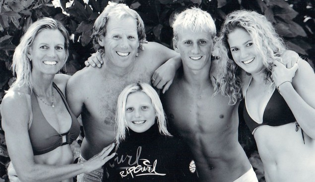Lakey Peterson and the family. Photo: Courtesy Peterson Family