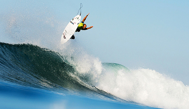 Soaring to victory at Trestles...again. Photo: Myles McGuinness