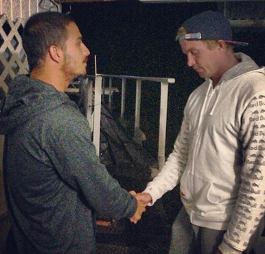 The two shook hands and made up...or so it seemed. Photo: Instagram