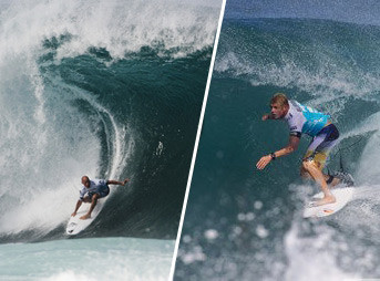 Who wouldn't want to see Kelly Slater and Mick Fanning go head to head for the crown? How about three times? Photos: ASP