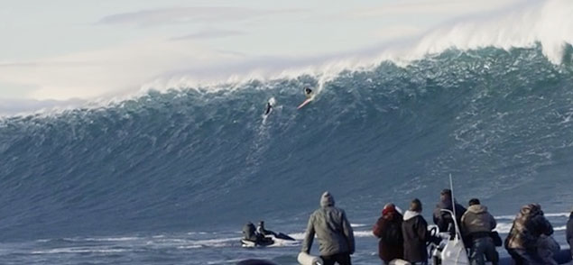 "After Winter Storm Hercules unleashed the Black Swell onto the old continent, a host of the world's best big wave surfers, including Shane Dorian, Benjamin Sanchis, Jamie Mitchell, and Grant ""Twiggy"" Baker, tackled some extraordinarily big waves at Belharra, France."