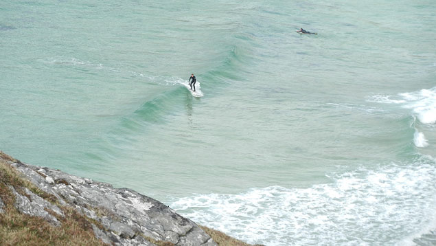 Empty waves and good friends in the Hebrides.