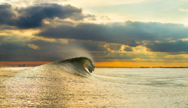 Secret spot with small perfect waves and nobody around. A likely story. Photo: Christor Lukasiewicz