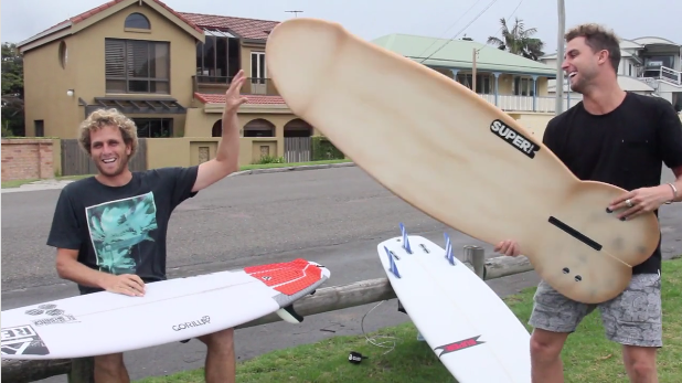 Paul Fisher and His Penis Surfboard