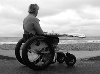 I'm a paralyzed surfer. I wasn't always paralyzed. The funny thing is, when I got paralyzed they told me I would never surf again – along with a huge list of other things that I would never do.