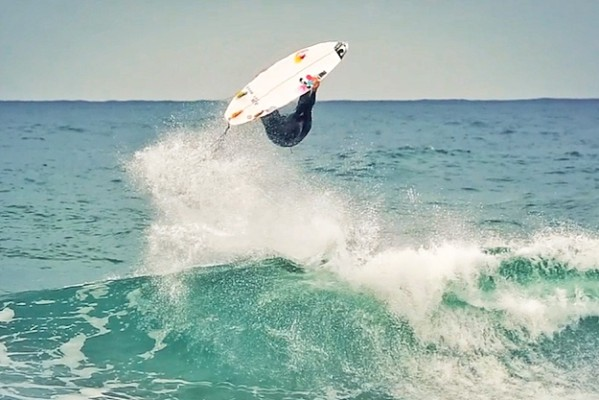 Jordy Smith flipping in Now Now