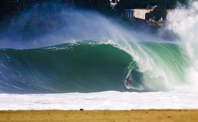 Nic midway through changing his mind in Mexico   Image: Camila Neves