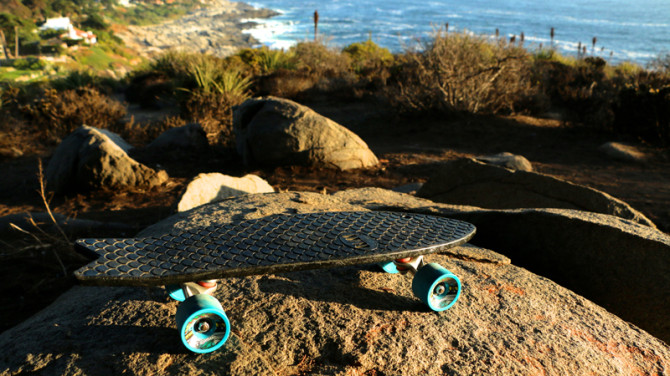 """That swallow tail, though. Photo: <a href=""""https://www.kickstarter.com/projects/1606305399/bureo-recycled-fishnet-skateboards-for-cleaner-oce"""">Bureo</a>"""