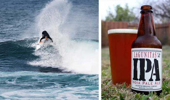 Nat Young & Lagunitas IPA. Your surfing and other beers pale in comparison. Photo: ASP/Kelly Cestari
