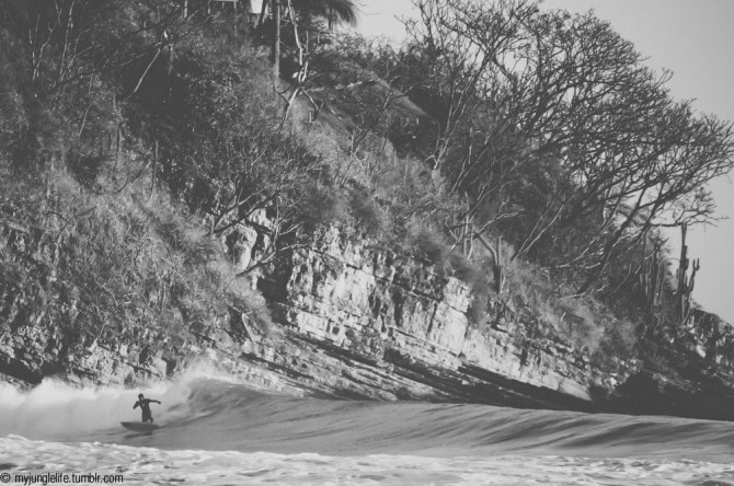 Machete pumping some lefts in the dry season