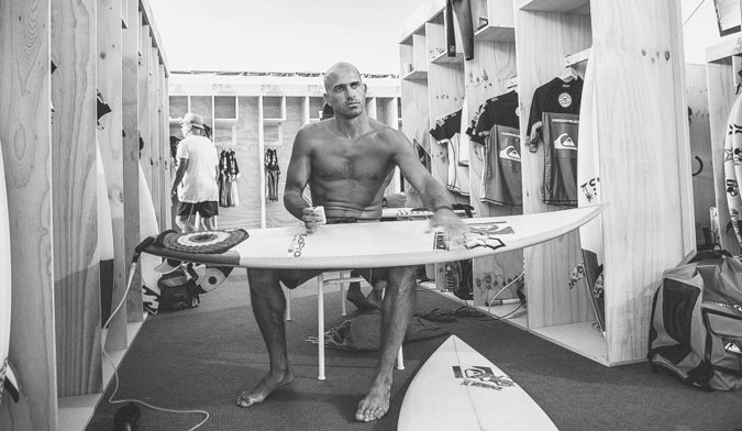 The last time Slater would have a Quik logo on his deck. Photo: Kirstin/ASP