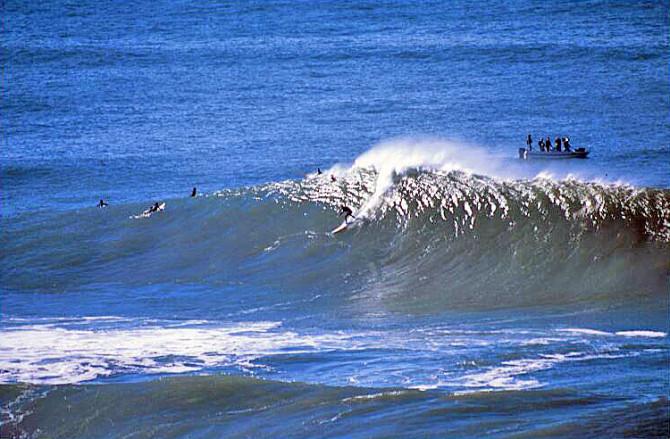 Sarah Gehardt, mother, college professor, <em>then</em> big-wave pioneer. Photo: Elizabeth Pepin Silva
