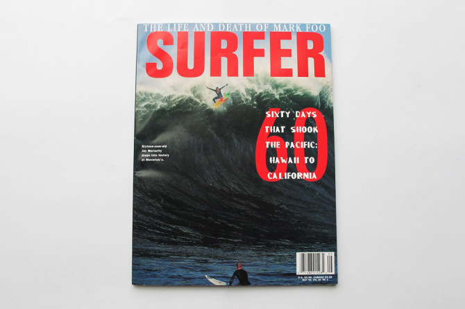 Jay Moriarity's wave at Maverick's landed him on the cover of SURFER Magazine