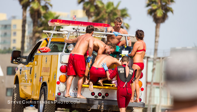 Venice Authorities Respond To A Rare Lightning Strike That Killed Surfer At The Pier