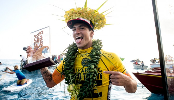 Gabriel Medina, your Tahiti Champ. Photo: ASP/ Kirstin