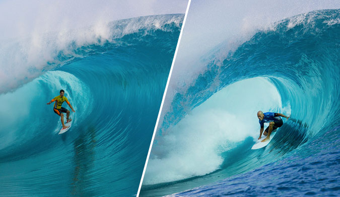 Courage and experience, head to head. Photos: ASP