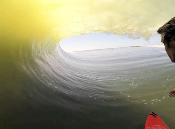 "Koa Smith should probably stop surfing. The term ""chasing the dragon"" comes to mind here – after this ridiculously perfect Skeleton Bay barrel, not much else is going to compare."